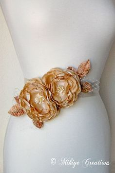 Wedding Sash Accessory  Bridal Belt  Hair by MikiyeCreations, $80.00