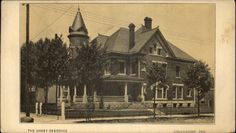 Logansport IN Haney Residence c1910 Postcard - Oversized 3.75x6 Inches