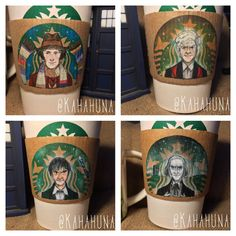 Starbucks Logo Cleverly Transformed Into Different Versions Of 'Doctor Who' - DesignTAXI.com