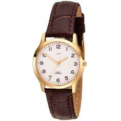 JOBO Damen Armbanduhr Quarz Analog Edelstahl vergoldet Lederband schwarz