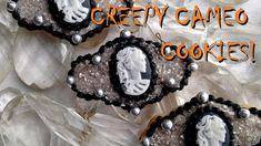 Fondant Skull Cameo Cookies for Halloween!