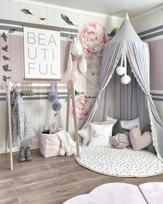 Dome Bedding Girl Princess Mosquito Net Baby Bed Canopy Tent Room Decor Beamy - Bed Tents - Ideas of Bed Tents Baby Bedroom, Nursery Room, Girl Nursery, Girl Toddler Bedroom, Nursery Themes, Kids Bedroom Girls, Girls Bedroom Canopy, Kids Rooms, Homemade Home Decor