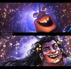 awesome fan art of human tamatoa from moana