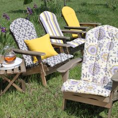 Bella Flora Adirondack Chair Cushion 49 99 Cushions Outdoor