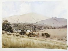 Concord Hills by Joseph Zbukvic. Demo for the California Watercolor Association, 2015.