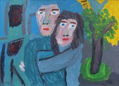 Eine Acrylmalerei von Benjamin Jahn Art Brut, The Outsiders, Painting, Random Stuff, Kunst, Painting Art, Paintings, Painted Canvas, Drawings