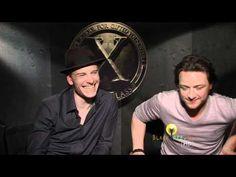 X-Men: First Class (Hilarious) Interview - Michael Fassbender & James Mcavoy