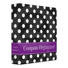 coupon binder, dot coupon, coupons, polka dots, black polka