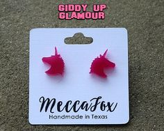 MeccaFox Unicorn Stud Earrings | $10.00