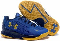 Under Armour Ua Curry 1 One Low Home Royal Blue Women Shoes