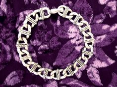 Vintage Chunky Silver Chain-Mail Link Bracelet by TheAtticofKitsch