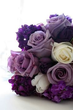 i love all of the different shades of purple with just a little bit of white.  some of the other pics have too much white
