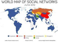 Facebook é a rede social mais popular em 127 paises