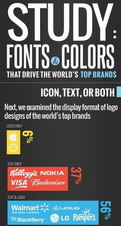 #Fonts #Colors that Drive the World's Top #Brands part 2