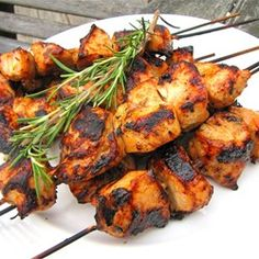 """Rosemary Ranch Chicken Kabobs 
