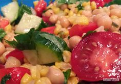 Grilled corn, chickpea and avocado salad with honey lime dressing recipe - gluten free! Avocado Salad, Fruit Salad, Honey Lime Dressing, Dressing Recipe, Home Recipes, Pasta Salad, Foodies, Grilling, Salads