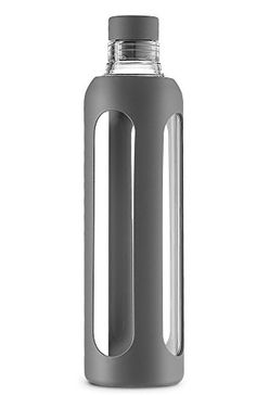 Camping Kitchen :SWIG SAVVY Stylish Real Borosilicate 20oz Glass Water Bottle with Silicone Sleeve - Silicone Cork Cap - Gray -- Hurry! Check out this great item : Camping Kitchen