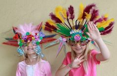 DIY Mardi Gras Masks For Kids- tutorial