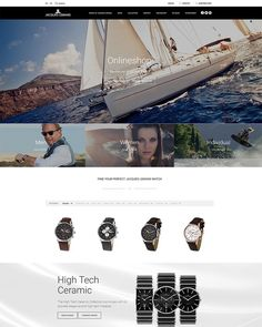 Need a vacation? Just check out this gorgeous online shop from Austrian watchmaker Jacques Lemans. Built using Shopware 5 as the software basis. #ecommerce #design #jacqueslemans #responsive #shopware