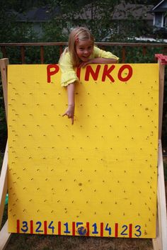 Carnival party -Husband made this awesome plinko game!