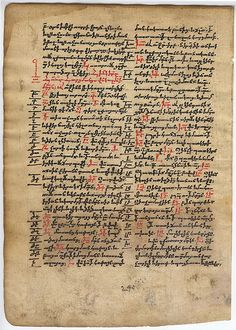 Verso of leaf from an Armenian prayer book dated 1741  #miamioh #manuscripts