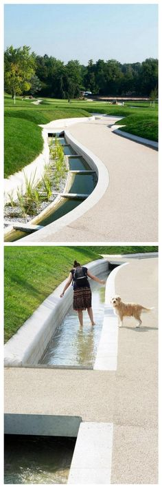 Future Park Killesberg, Stuttgart by Rainer Schmidt Landschaftsarchitektur. Click image for link to full profile and visit the slowottawa.ca boards >> https://www.pinterest.com/slowottawa/ #landscapearchitecturewater