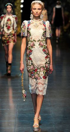 Dolce and Gabanna fashion show. What an amazing opportunity to strut your stuff on this runway!