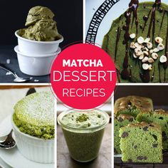 There's no question that dessert is the favorite ending to any meal. It's true that matcha aficionados can add matcha green tea powder to any dessert recipe, but the following matcha dessert recipes were crafted with delicate taste of matcha in mind.