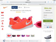 Awesome roshe sneakers Roshe Sneakers, The Perfect Girl, Roshe Run, Nike Kids, Running, Awesome, Fashion, Moda, Fashion Styles