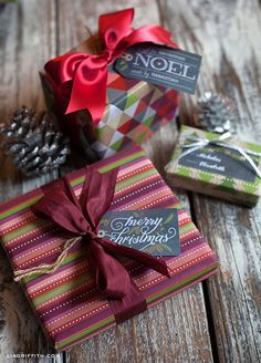 Chalkboard Christmas Gift Tags and Labels
