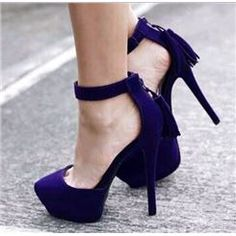 bb1aa79b9fe Vintage Solid Colour Ankle Strap Suede Platform Heels Prom Shoes Cute  Shoes