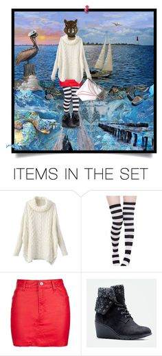 """Miss Squirrel goes sailing"" by annacullart ❤ liked on Polyvore featuring art, contestentry, fallsweaters and annacullart"