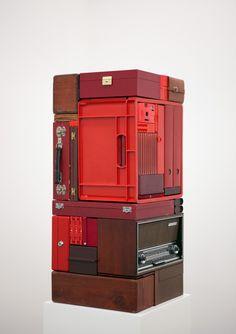 Michael Johansson – Vertical Transition in Red, 2013 Contemporary Sculpture, Contemporary Art, Abstract Sculpture, Sculpture Art, Artistic Installation, Ideias Diy, Conceptual Art, Art Object, Box Art
