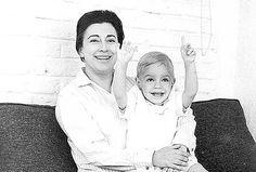 Rosario Castellanos y su hijo Gabriel