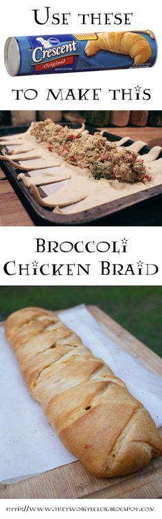 Broccoli Chicken Braid