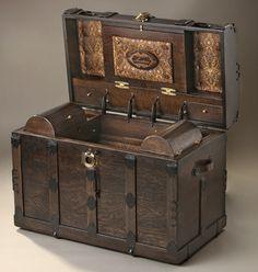 Trunks Antique: Trunk Antique Chest Wooden Boxes-Jackpot!