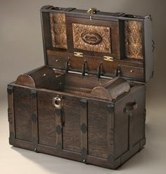 Trunks Antique: Trunk Antique Chest Wooden Boxes-Jackpot!