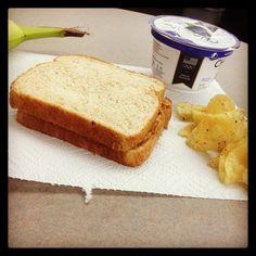 Lunch! #kettlecooked #lays #bananarama #chobani #howmatters #pbj #yummytuesday