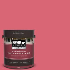 BEHR Premium Plus Ultra 1-gal. #P150-5 Kiss and Tell Flat Exterior Paint