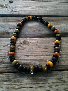 Handmade glass beads, etched. By Marian Abath, Terrafuse Arubaglassceramics