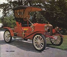 1908 Lambert Runabout - (la Buckeye Mfg Co. Vintage Motorcycles, Cars And Motorcycles, Automobile, Veteran Car, Car Advertising, Retro Cars, Old Cars, Vintage Ads, Motor Car
