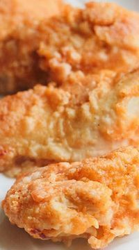 The Best Oven Fried Chicken ~ The coating gets nice and crisp in the oven while the Chicken stays tender and juicy... Delicious!