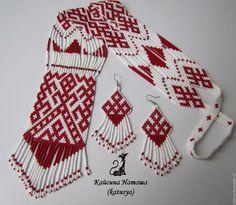 """Купить Гайтан """"Рожаница"""" - гайтан, гердан из бисера, славянский стиль, славянский оберег, рожаница"""
