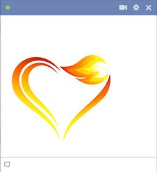 If your love is meant to endure, this flame heart might be the perfect one to post to someone special on FB