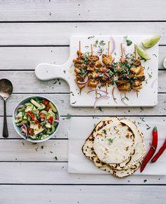Pork Souvlaki recipe w/pineapple cucumber salsa...perfect for summer! / Souvlaki For The Soul