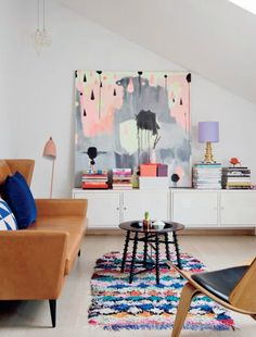 Wonderfully artistic home of art director and illustrator / home tour / persnal art work home with heart via Passion shake