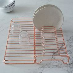 Wire Kitchen Foldable Dish Rack #westelm