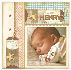 precious baby layout from Close To My Heart Love This! I think I will be making one for a baby!
