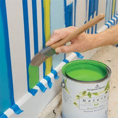 1000 images about striped wall on pinterest striped for Painting stripes on walls in kids room