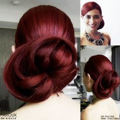 Perfect for a wedding, perhaps? Hair by Anna Cantu, Farouk Systems Artist.